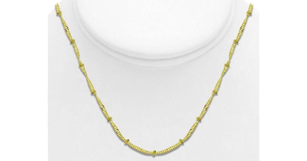 Gold Tone Essentials Fine Chain Necklaces