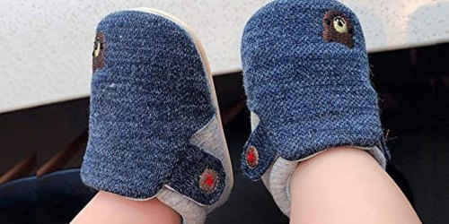 Non-Slip Baby & Toddler Shoes w/ Adjustable Straps Just $9.74 on Amazon   Adorable Animal Designs