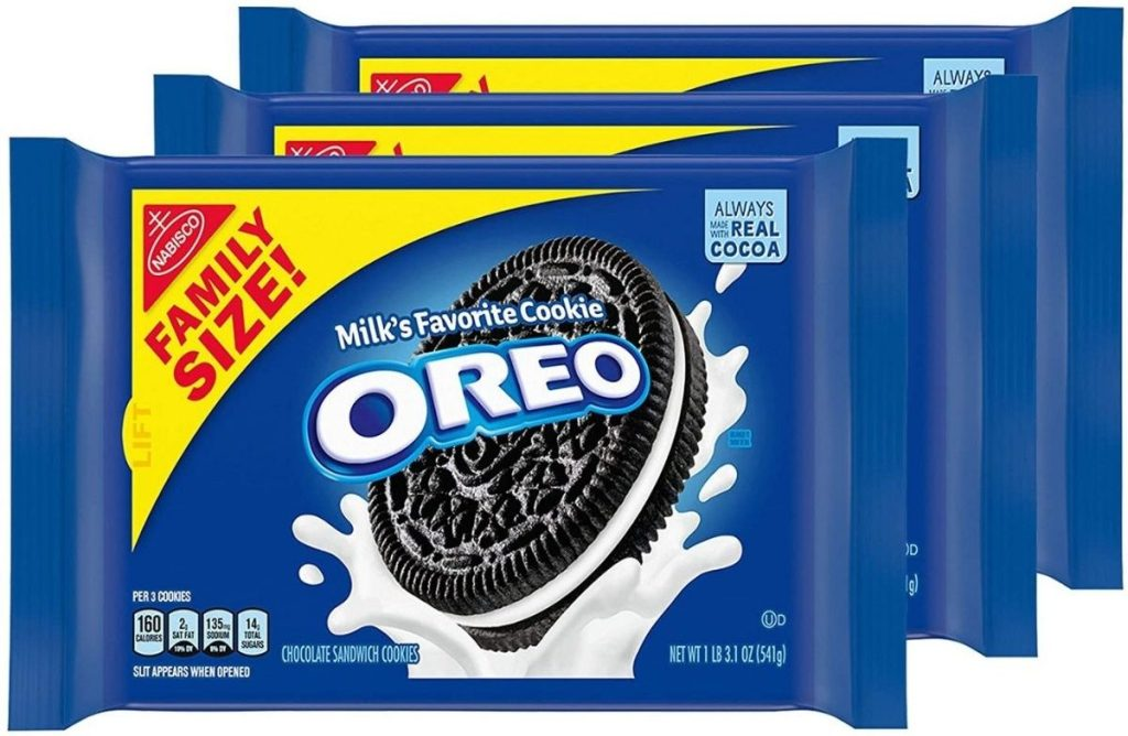 3 packs of Oreo Family Size Cookies