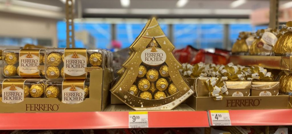 Ferrero Rocher Tree on shelf at Walgreens