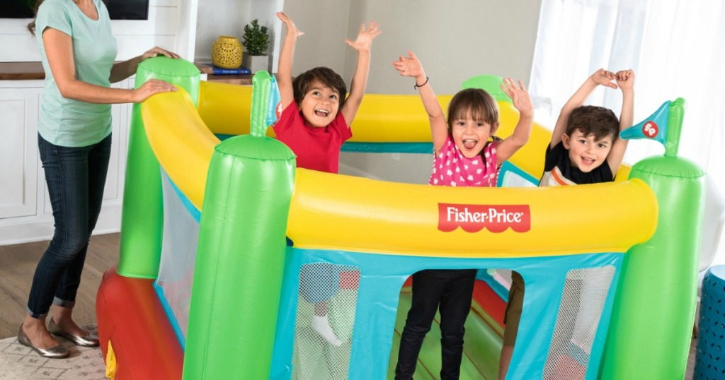 kids in Fisher-Price Bouncesational Bounce House