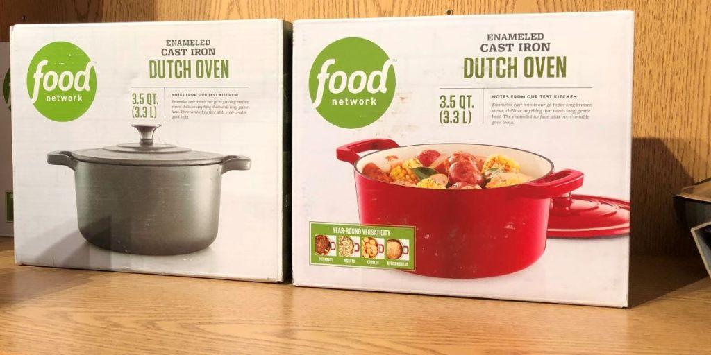 dua oven Belanda Food Network di rak di Kohl's