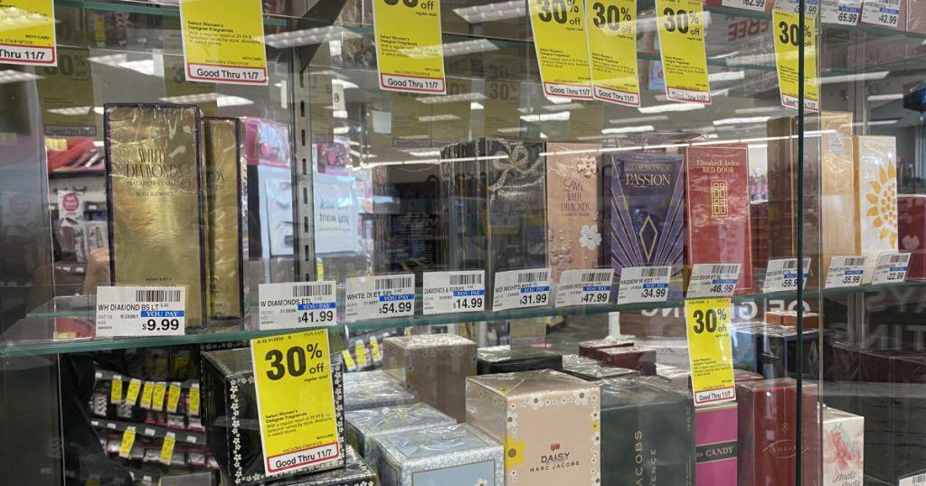 Perfume on shelf