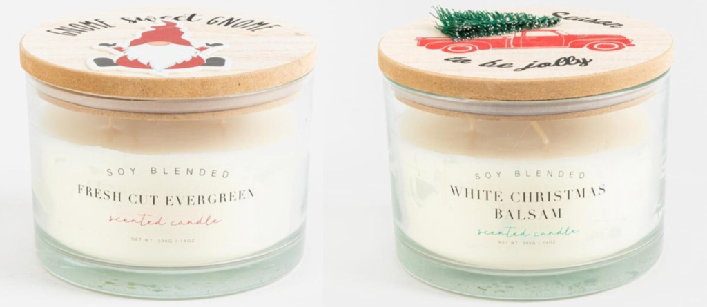 2 christmas candles at francesca's