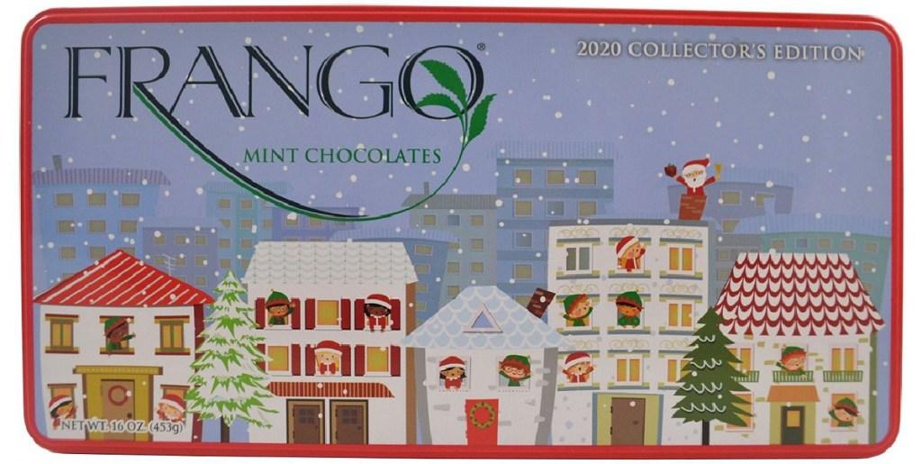 holiday tin of chocolates