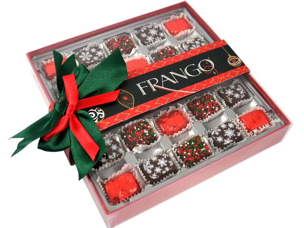 Christmas-themed box of chocolates
