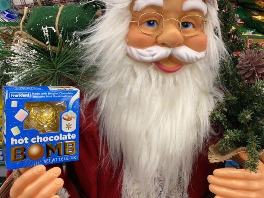 Frankford Hot Chocolate Bomb on Large Santa Decoration