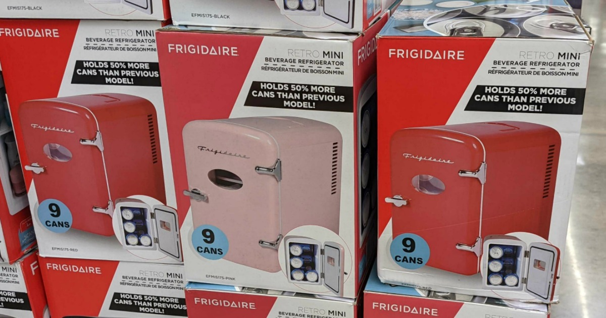 Frigidaire Portable Retro 9 Can Mini Fridge Only 24 On Walmart Com Black Friday Price Hip2save