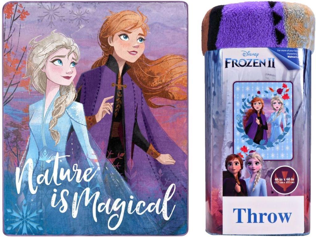 Two Disney Frozen Plush Throws