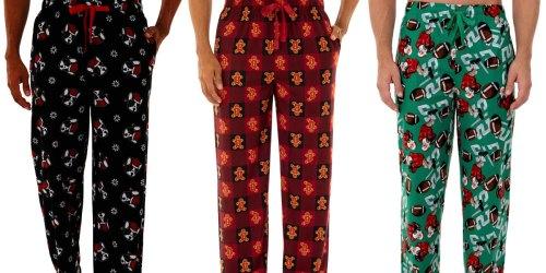 Fruit of the Loom Men's Holiday Fleece Pajama Pants Only $7 on Walmart.com