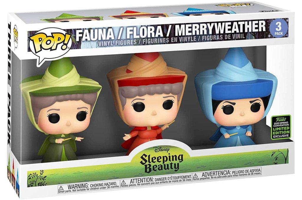 funko pop sleeping beauty fairy godmothers