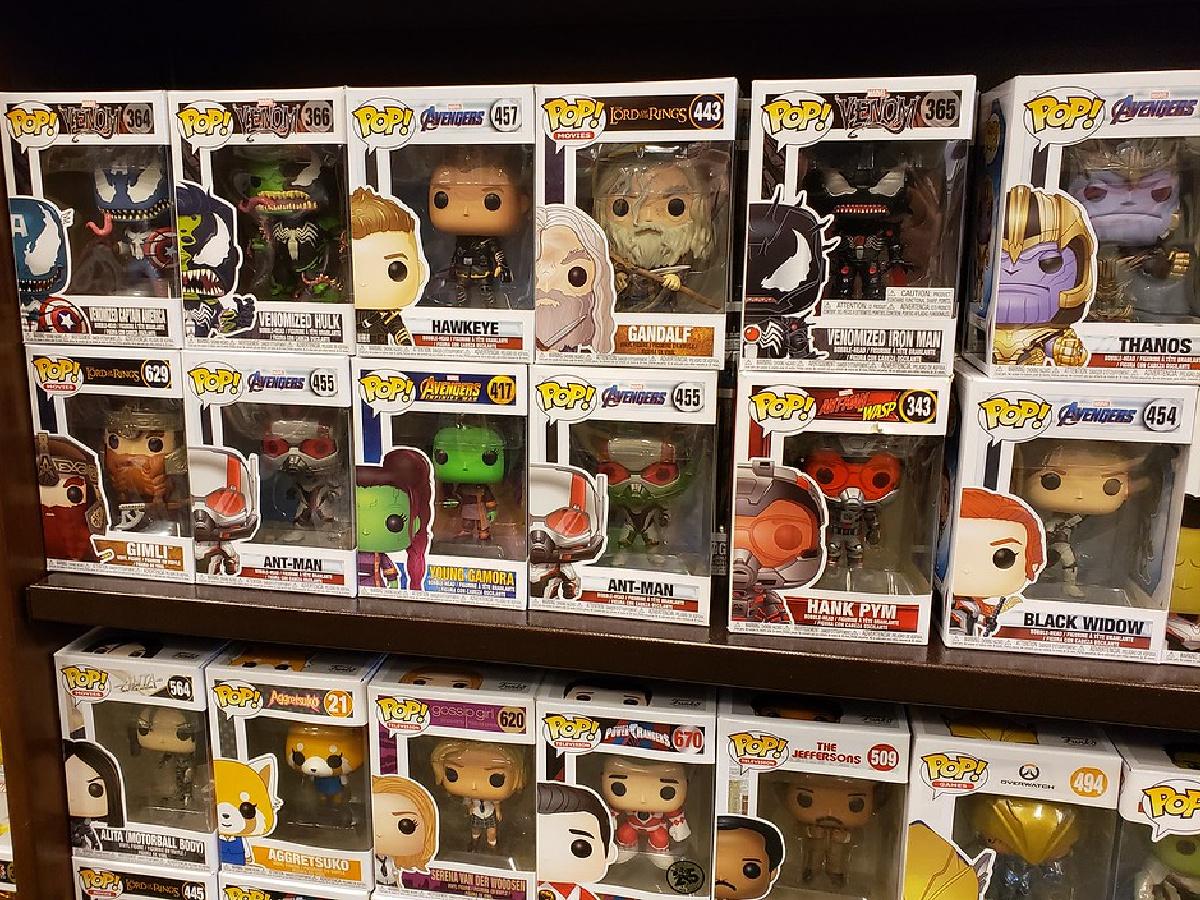 Funko POP! Figures on store shelf