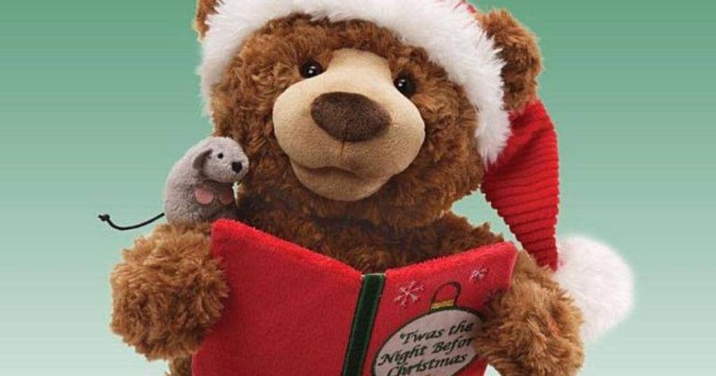 bear holding a storybook