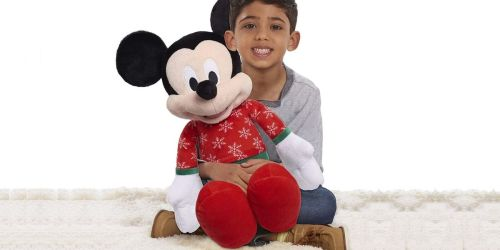 Disney Mickey or Minnie Large Christmas Plush Only $9.99 on Amazon (Regularly $20)