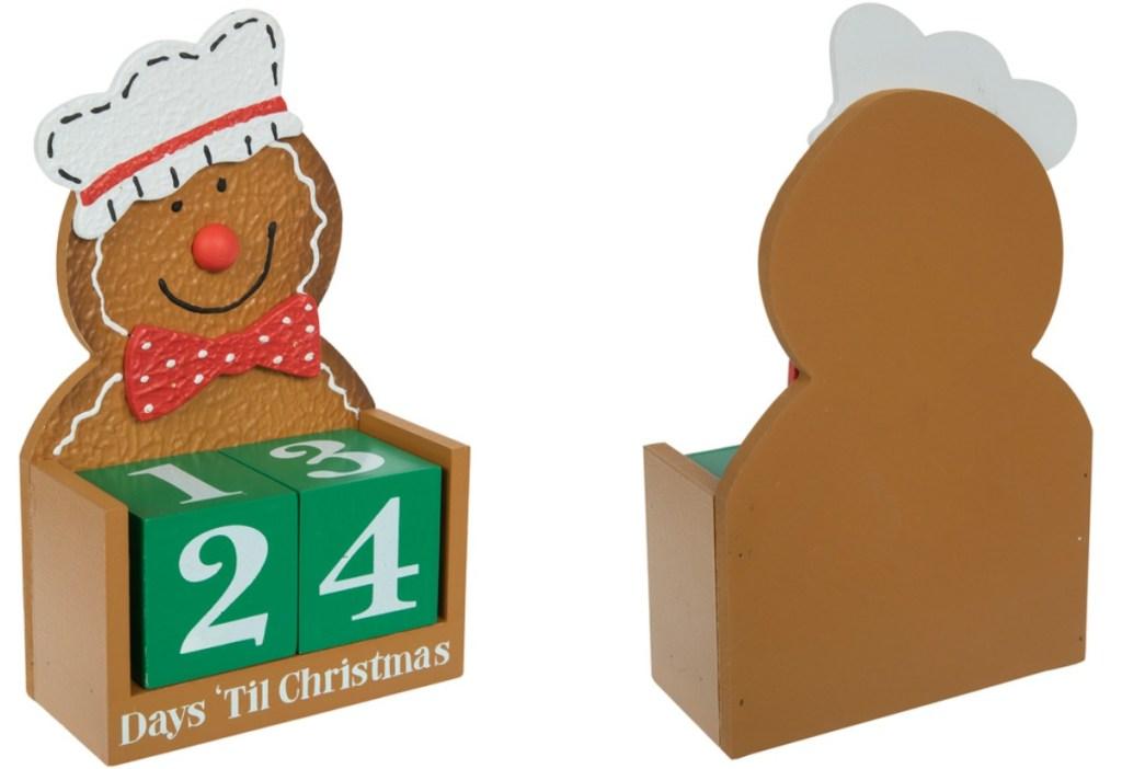 Gingerbread Man themed countdown calendar