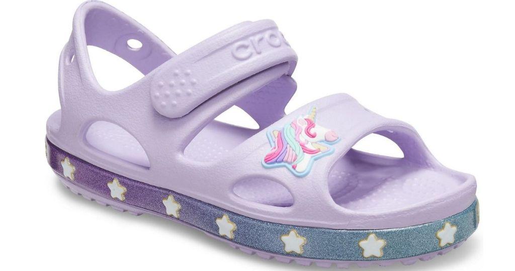 purple unicorn crocs