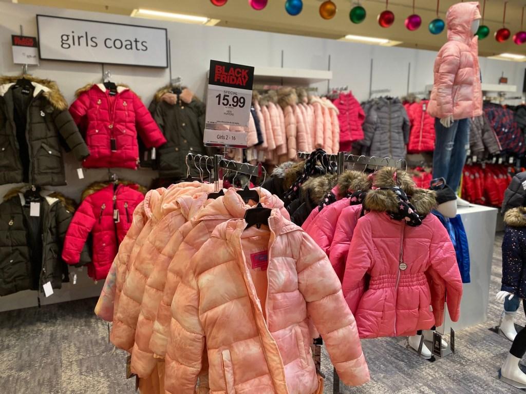 Girls Puffer Coats on Macy's Rack