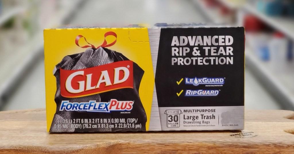 glad forceflex 30 gallon trash bags