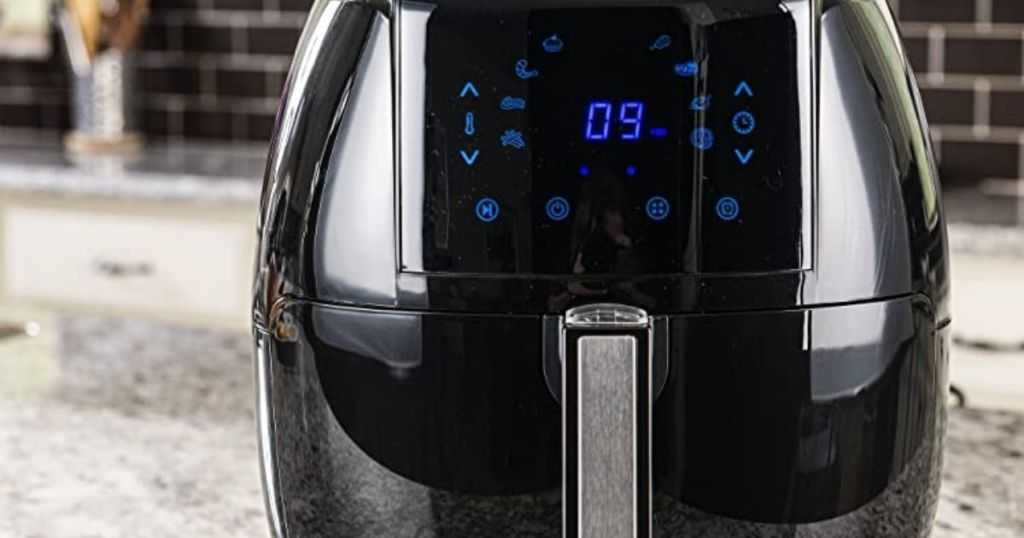 black Air Fryer on counter