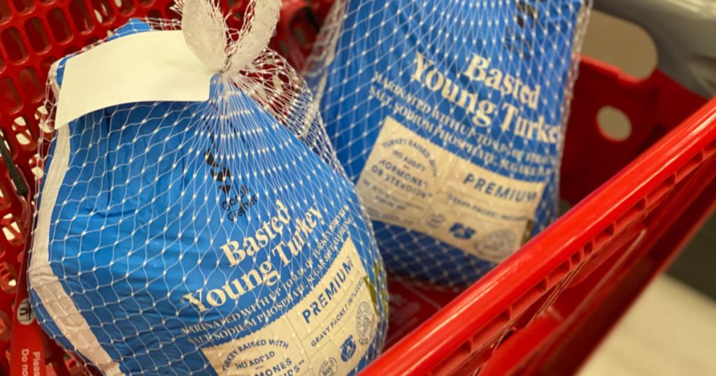 turkey in basket