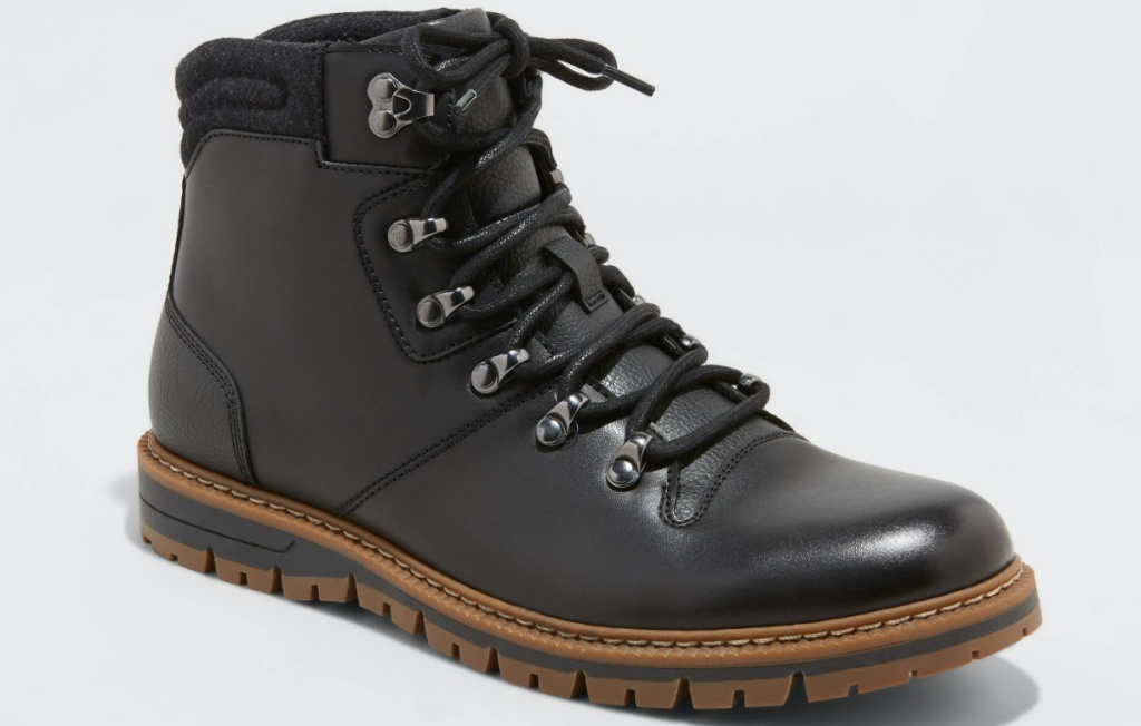 mens black hiker boot