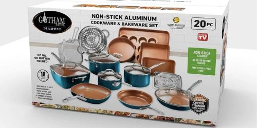 Gotham Steel 20-Piece Cookware & Bakeware Set Only $99.99 Shipped (Regularly $200)