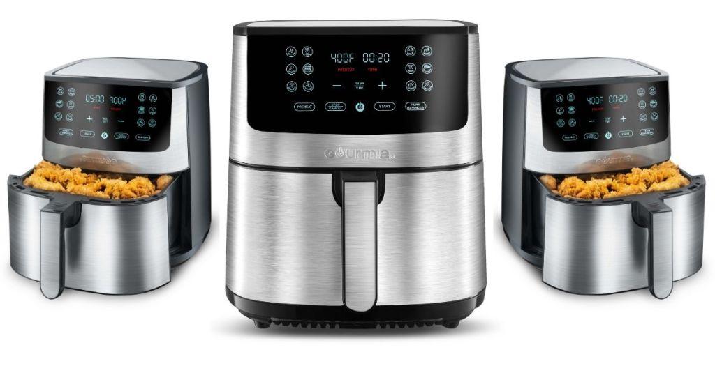 Three Gourmia 8-Qt Air Fryers