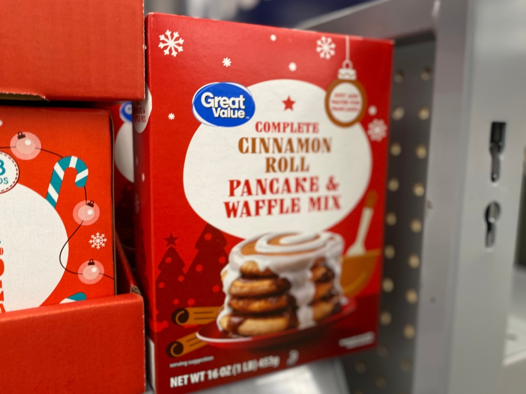 Great Value Cinnamon Roll Pancake & Waffle Mix