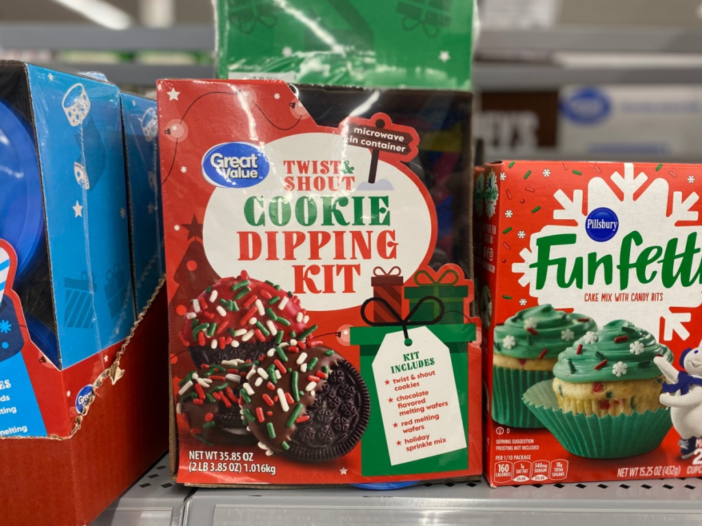 great value cookie dipping it