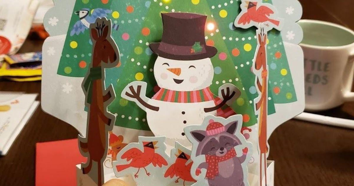 Hallmark Musical Pop Up Card Only 6 99 On Amazon Plays Rockin Around The Christmas Tree Hip2save