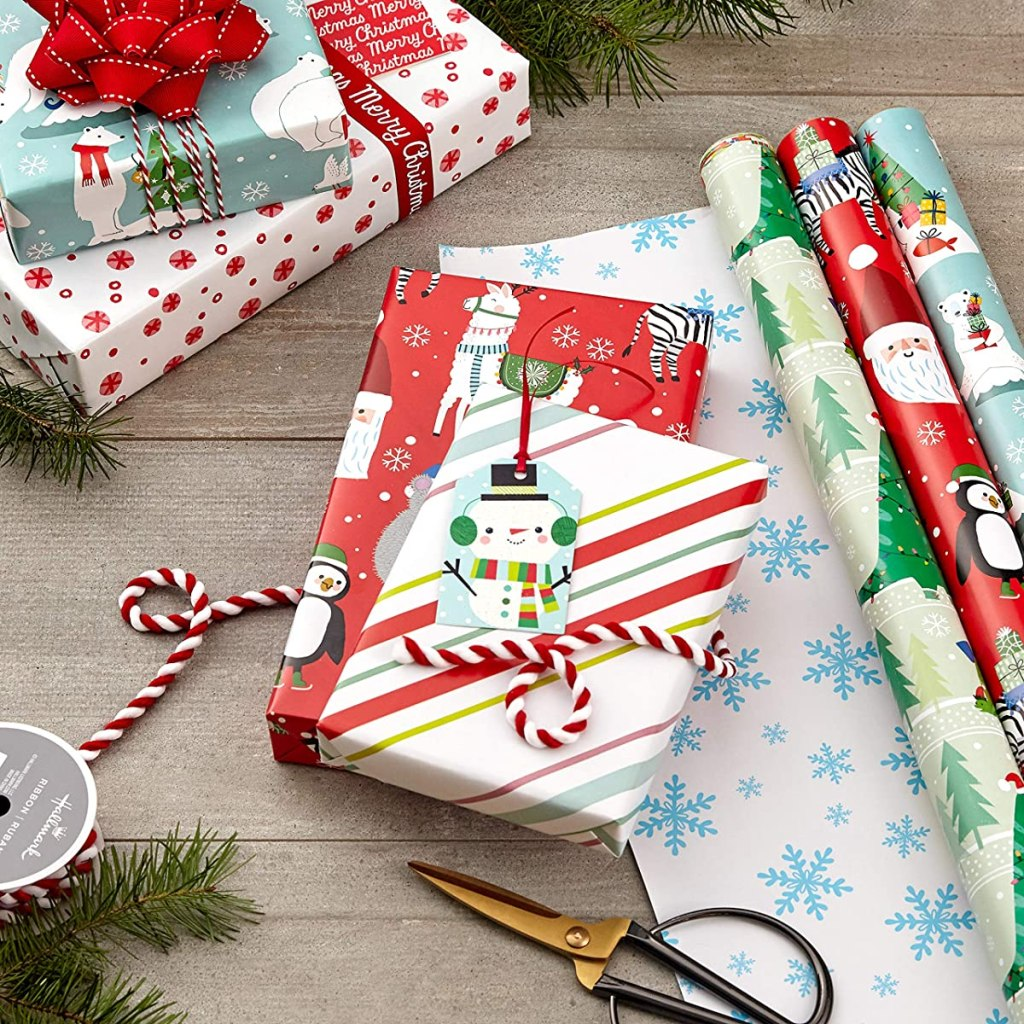 gift wrap and presents
