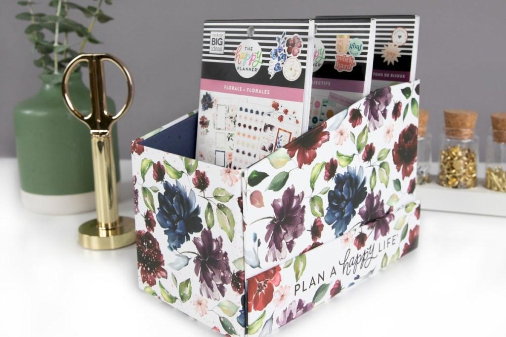 happy planner sticker box