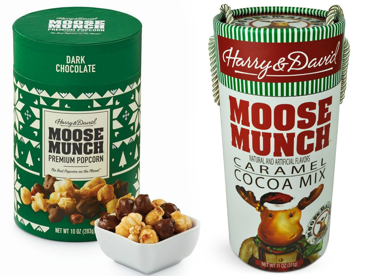 Two containers of Moose Munch gifts