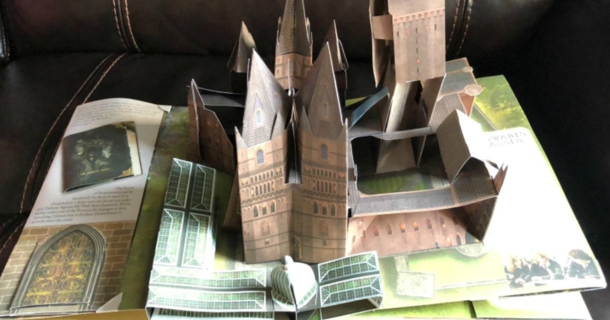 hogwarts castle pop up in harry potter book