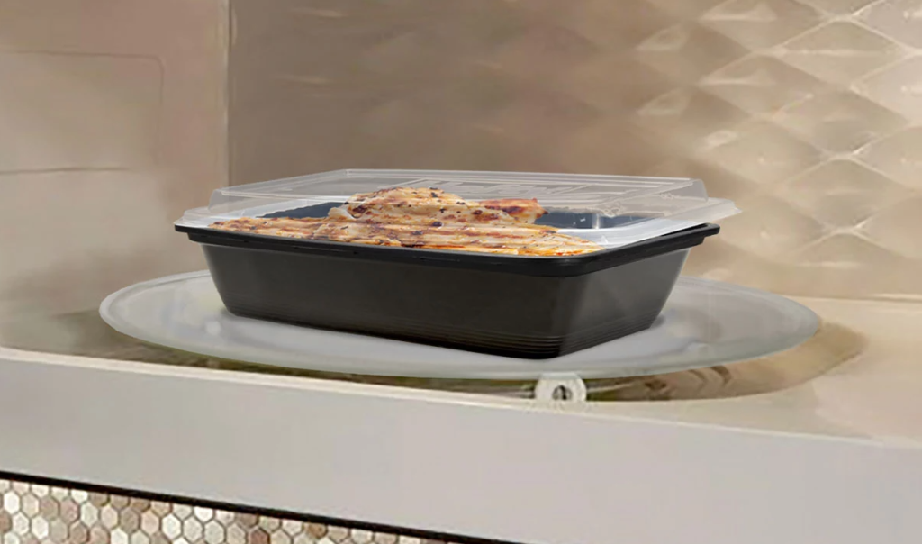 Hefty Food Storage Container in the microwave