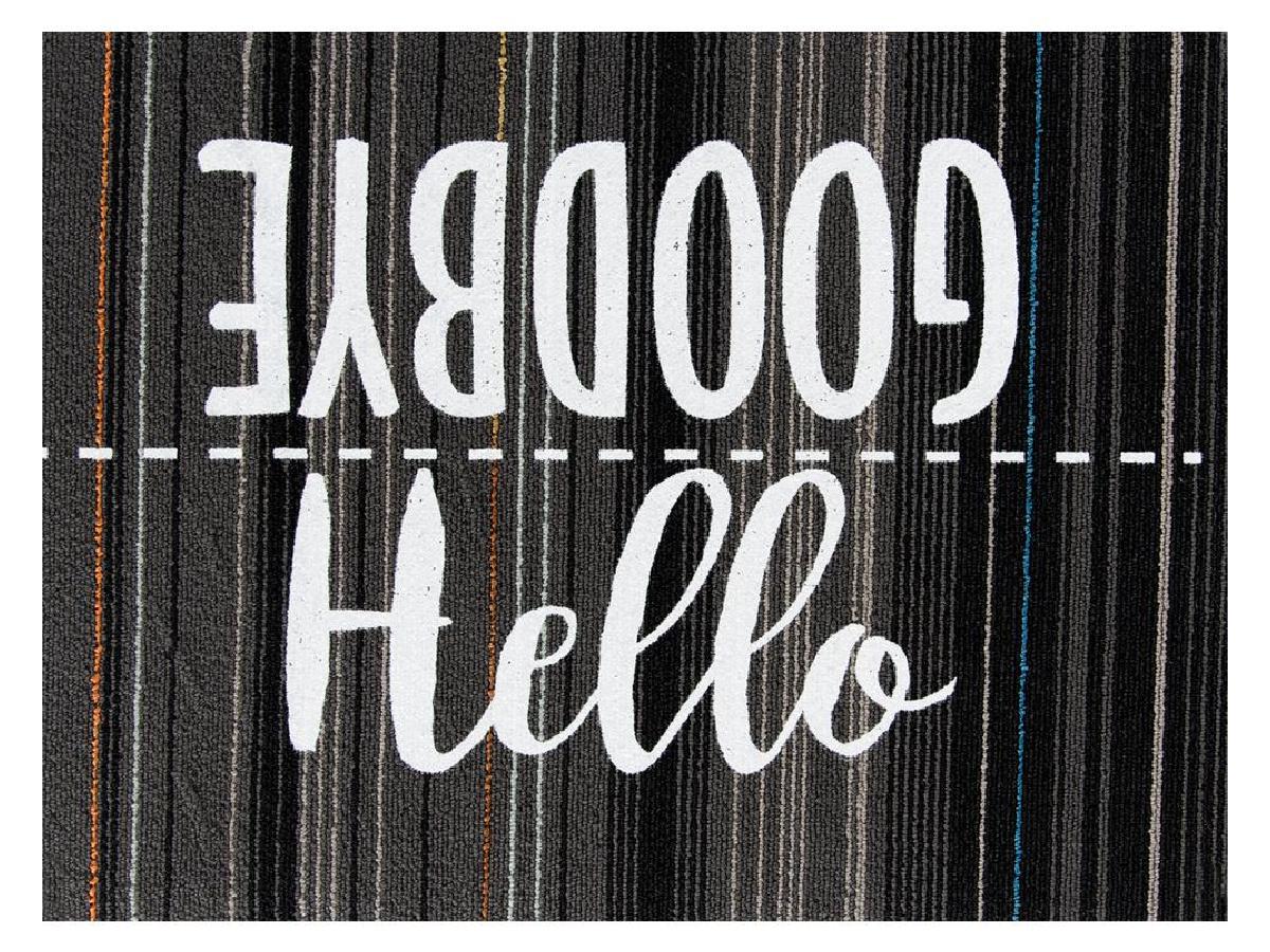 Hello Goodbye door mat