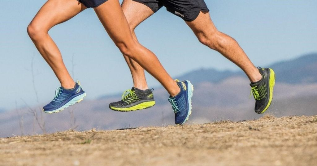 Hoka One One CHallenger man and women running outside