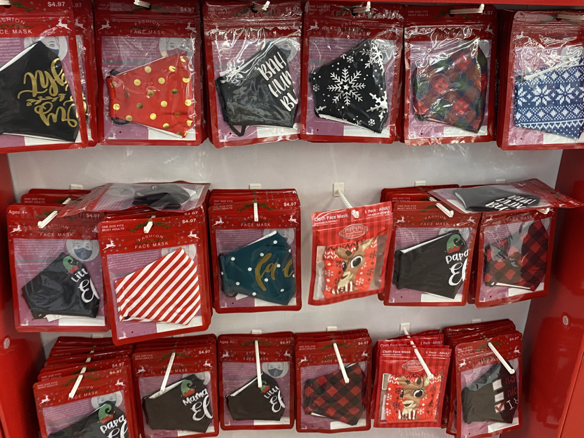 Large variety of Holiday-themed face masks