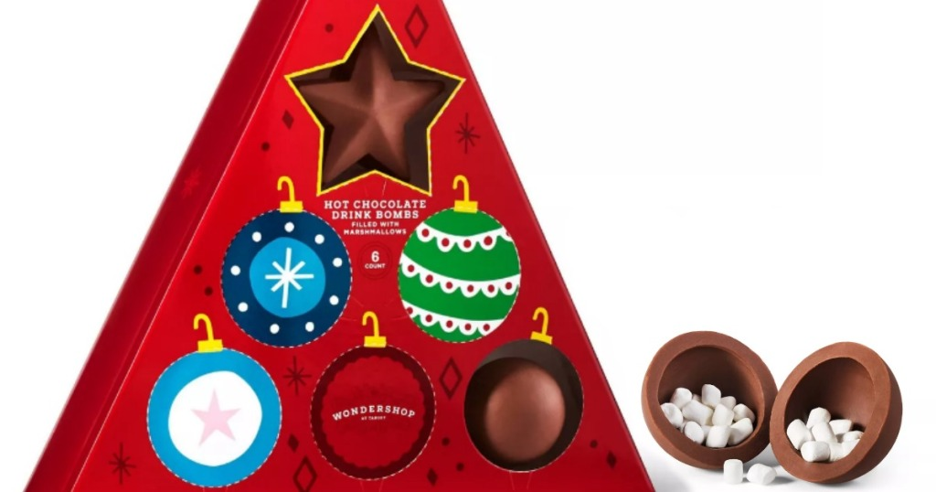 Holiday Advent Triangle Hot Chocolate Drink Bomb