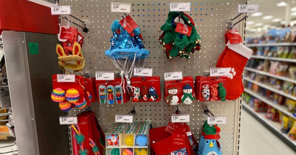 pet toys on shelf