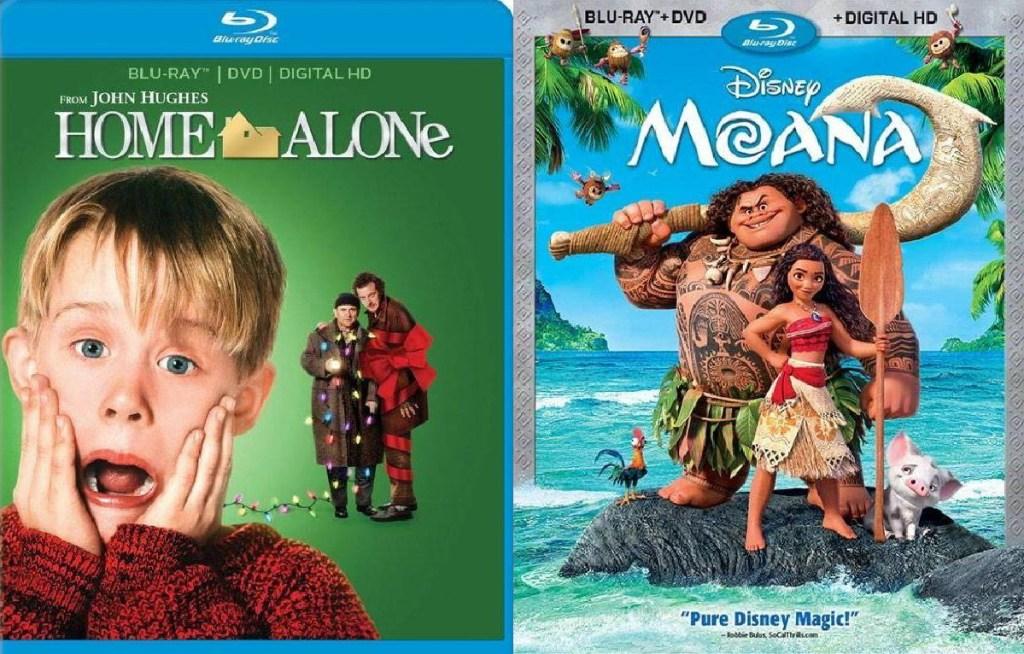 Home Alone and Moana Blu-ray Movies