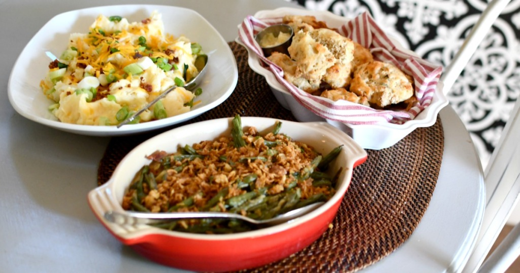 Three home Chef meals on a table top