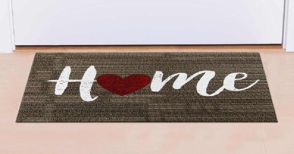 Home door mat with heart