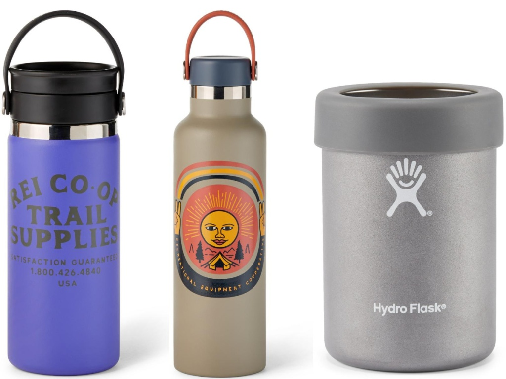 coffee flask, water bottle, and cooler cup