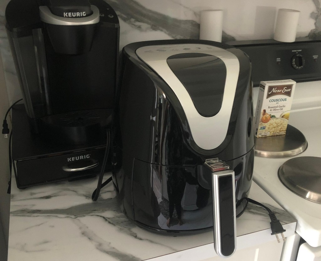 Insignia Air Fryer sitting on the counter