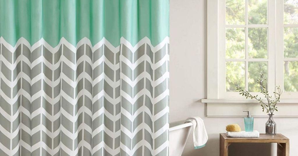 Intelligent Design Shower Curtain in bathroom