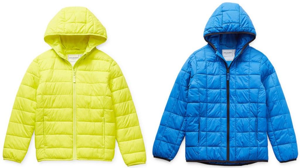 2 arizona brand kids puffer jackets