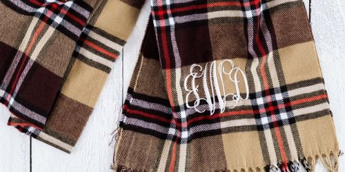 Monogram Scarves Only $10.99 Shipped on Jane.com (Regularly $24) | Great Gift Idea