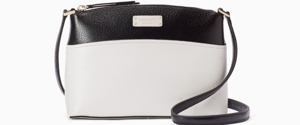 black and white Kate Spade crossbody bag