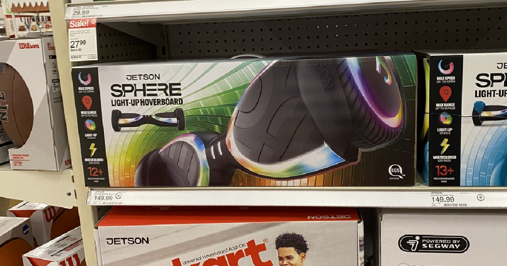 Jetson Sphere Hoverboard on shelf at target